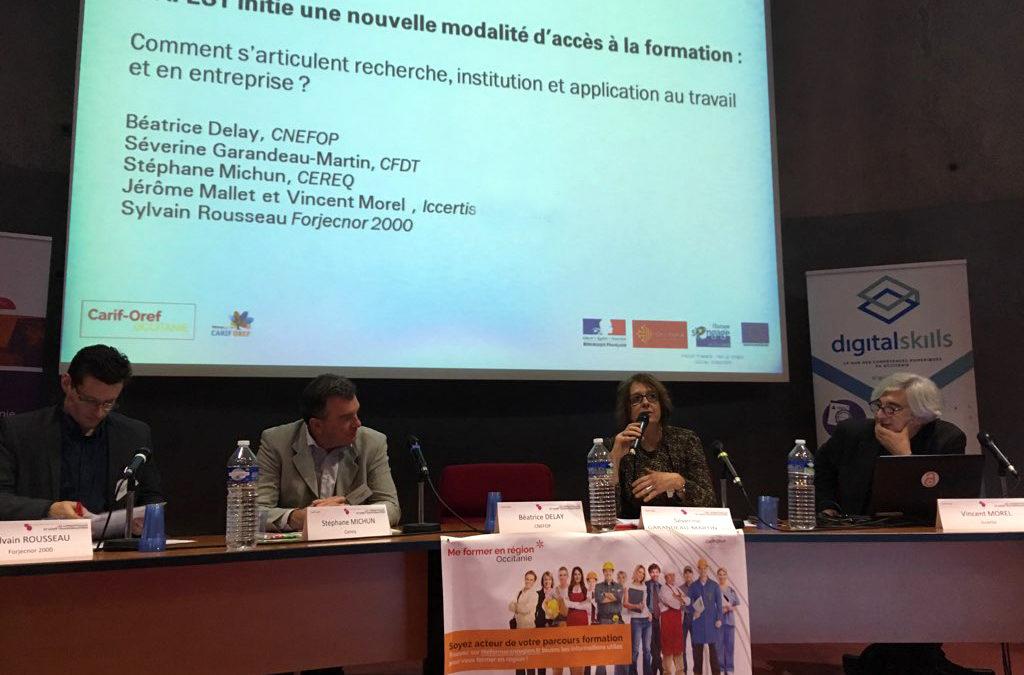 Le Carif-Oref Occitanie invite Iccertis à la tribune du 9ème forum régional dédié aux #AFEST